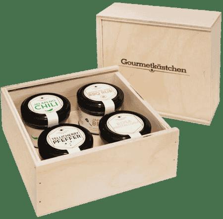 Gourmetkästchen - 4 Gourmet-Gewürze im Glas