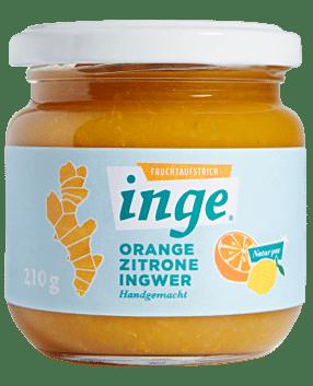Ingwer Fruchtaufstrich Orange Zitrone