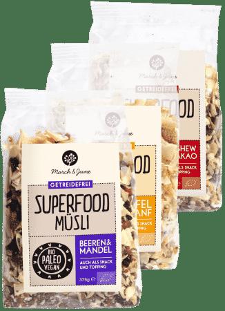 Bio Superfood Müsli glutenfrei Probierpaket