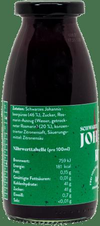 Fruchtsirup Schwarze Johannisbeere-Rosmarin - 250ml