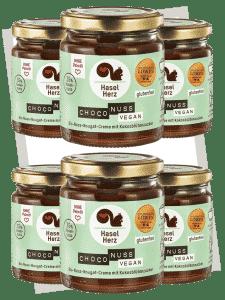Haselherz Bio Choco Nuss Nougat Creme vegan 220g - 6er Set