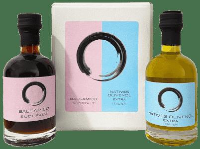 Balsamico & Olivenöl in der Geschenkbox