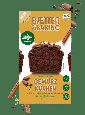Bio Backmischung Gewürzkuchen glutenfrei