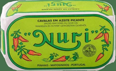 NURI Makrelen (klein) in pikantem Olivenöl