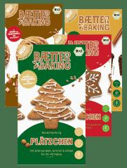 Bio Weihnachts-Backmischung 4er Set